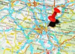 14515089-london-uk--13-june-2012-k--germany-marked-with-red-pushpin-on-europe-map